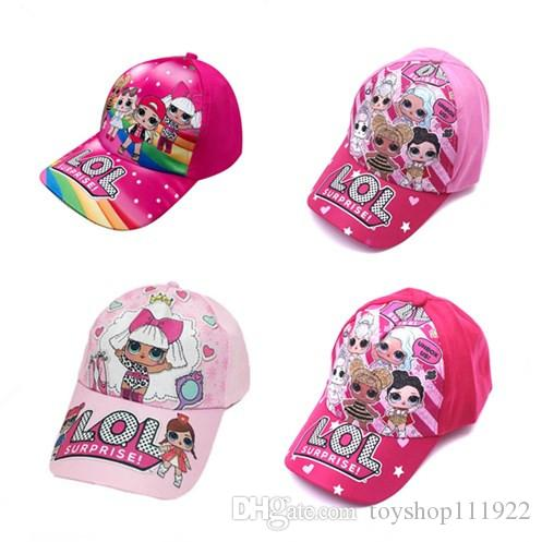 4color Kinder Karikatur-Puppe Drucken Baseballmütze Kind-Jungen-Mädchen-Karikatur spitzen Hut Druck, verstellbare Kappe zx02