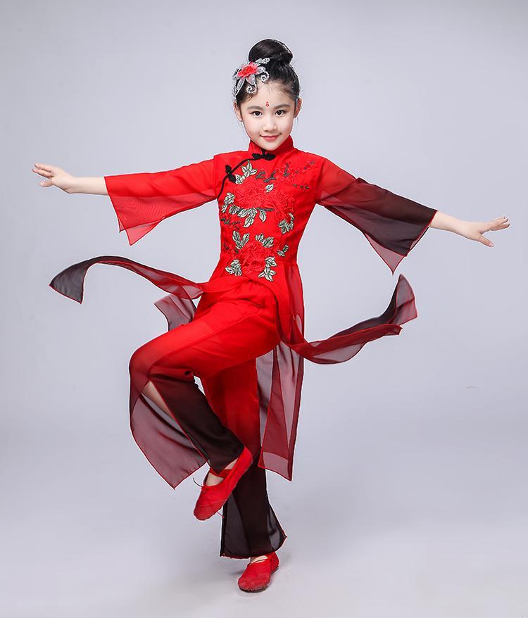 Новое Высокое Качество 2019 детские Костюмы Народного Танца Костюм Танца Рукава Классическая Современная Одежда Yangko