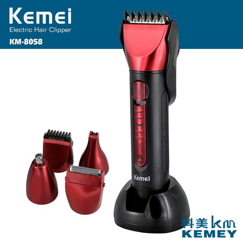 Cortadora de 5 en 1 Maquinilla recargable barbero barbero de afeitar eléctrica de la máquina de corte Kemei maquina de cortar o cabelo