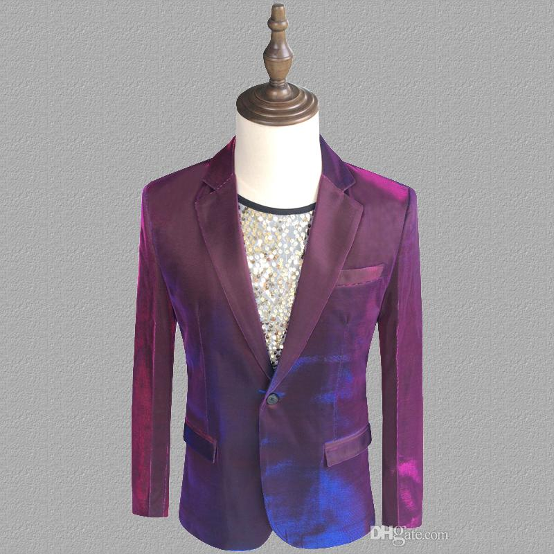 purple blazer men suits designs jacket mens stage costumes for singers clothes dance star style dress punk rock masculino homme terno