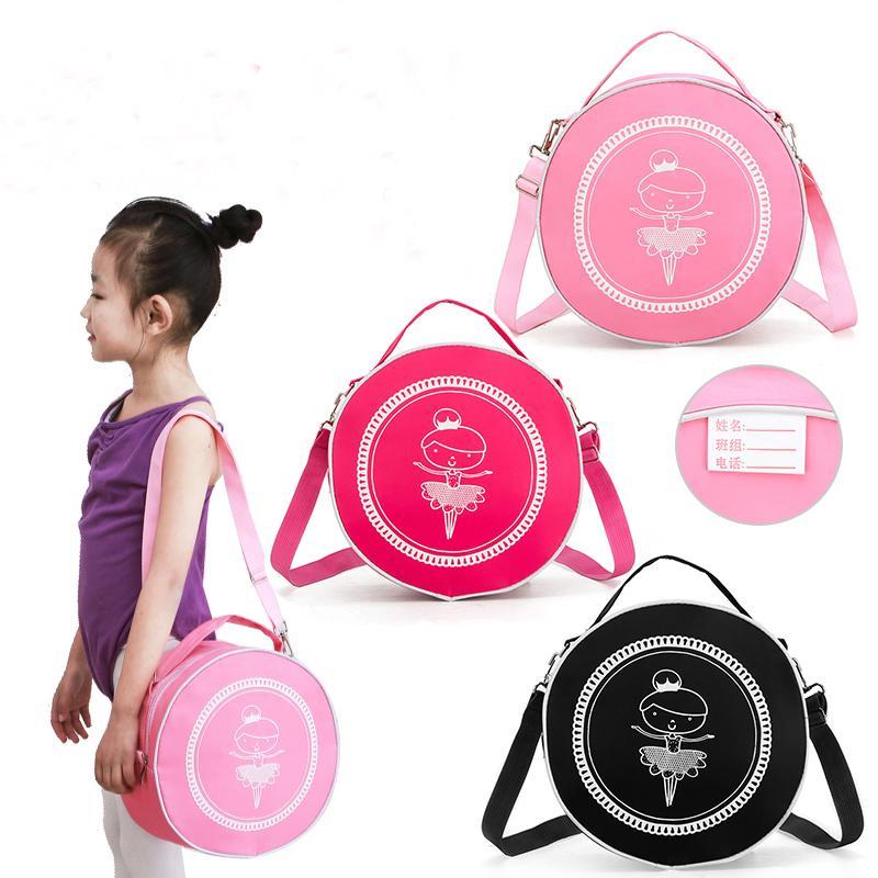 Filles Ballet Sac de danse de ballet rose Sac pour enfants Danse en toile rose Sac à dos ballerine mignon avec des chaussures d'impression