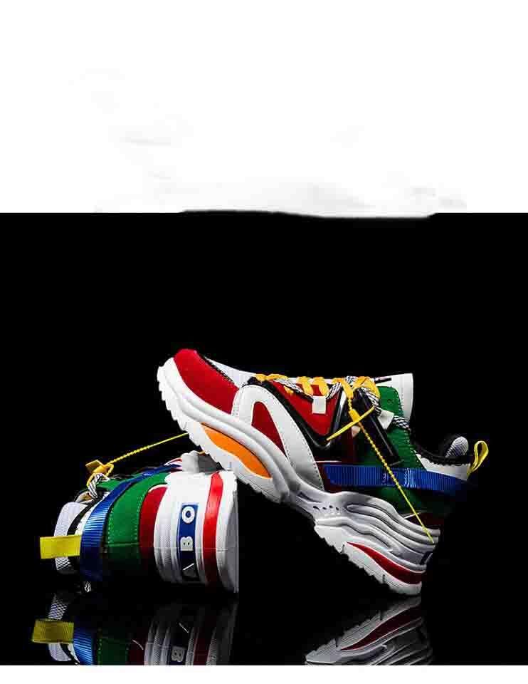 2019 Спорт Повседневная обувь Шнуровка 6CM ЖЕНЩИН Человек ЭДП ABO кроссовки дышащая