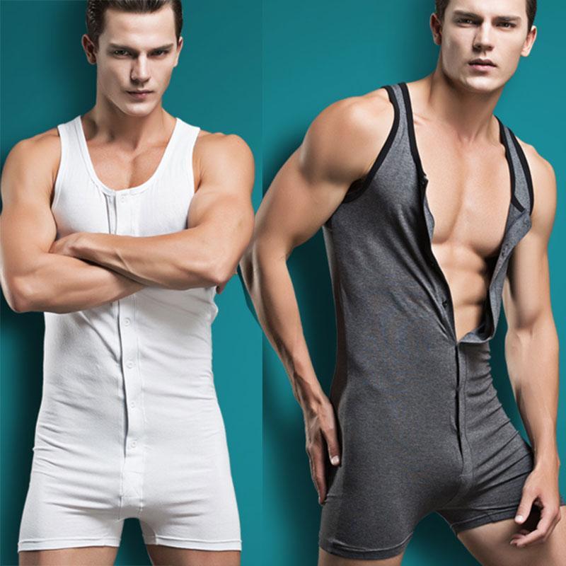 Sexy Under Männer Bodysuitkörper Baumwolle lycar Mann Overall Anzug wresting Hemdchen fest Former Homosexuell exotischen Club Overall