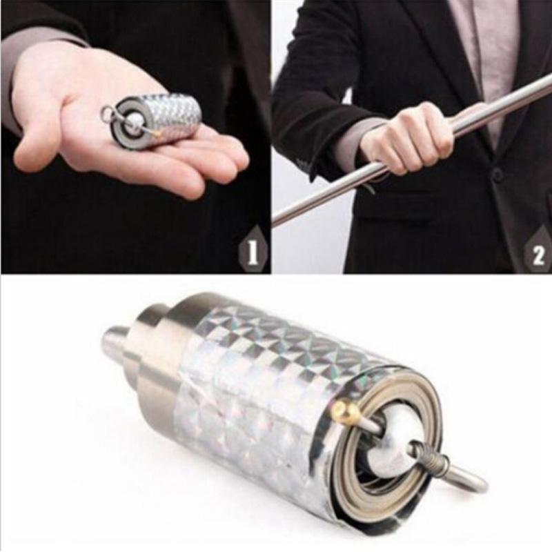 Portable Martial Arts Metal Magic Pocket Bo Staff 110cm New Pocket Magic TriE