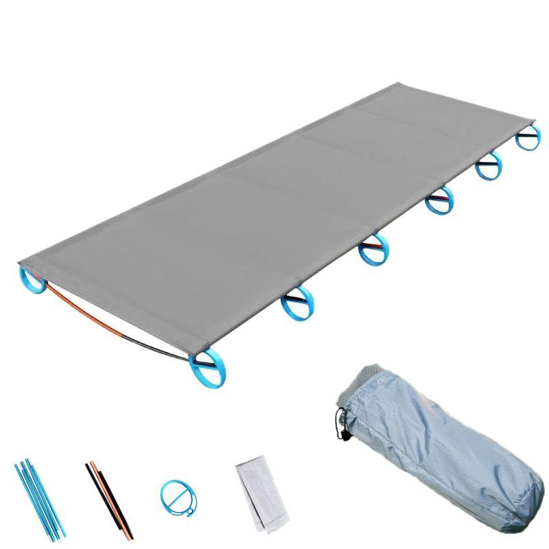 Acampar al aire libre Mat portátil ultra-ligero plegable de aluminio de la cama de múltiples funciones Resto viajes Bed Escalada plegable Sólido