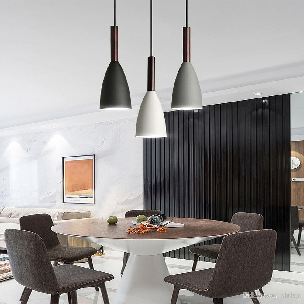 Pendant Lights Nordic Style LED Pendant Lamp Dining Room Suspension  Luminaire Wood Lamp For Home Lighting Modern Hanging Lamps Blue Pendant  Lights ...