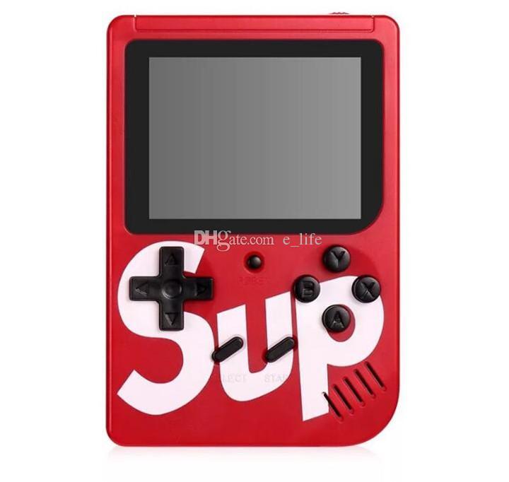 SUP Mini Handheld Game Console Sup Plus المحمولة لعبة لاعب الحنين 8 بت 129 168 300 400 في 1 ألعاب FC شاشة ملونة لعبة لاعب