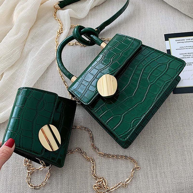 Qualité Motif de pierre Sacs en bandoulière en cuir pour les femmes Designer Petit Sacs à main chaîne d'épaule Messenger Sac à main Mini Sac à main