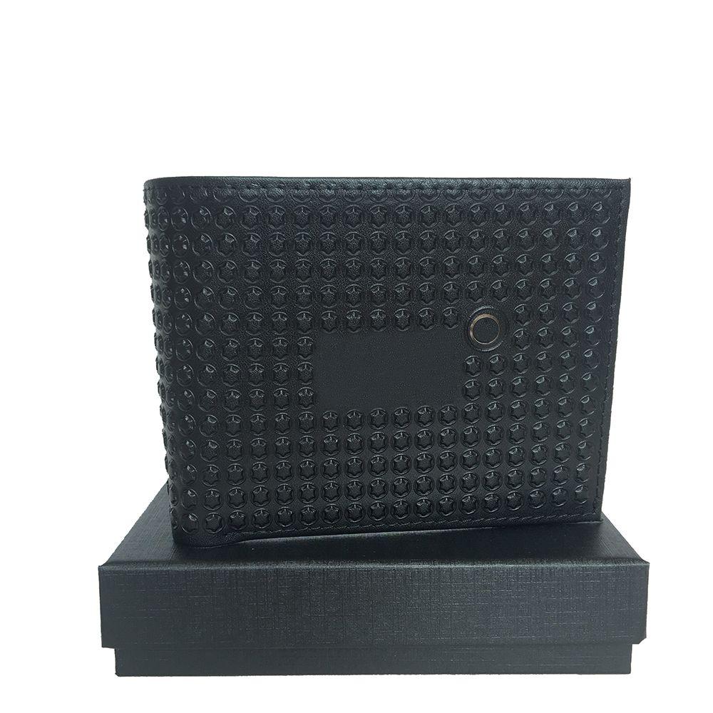 New Men's Wallet European Pop Portable Pocket Card Case Cash Clip Credit Card Holder ID Set Designer Top Leather Craft Gift Box