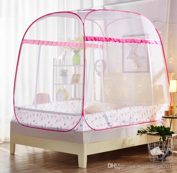 Kongnijiwa Pliable Trois Porte moustiquaire Yourte mongole D/ôme lit Double moustiquaire Plafond Suspendu Chambre Lit Double Canopy