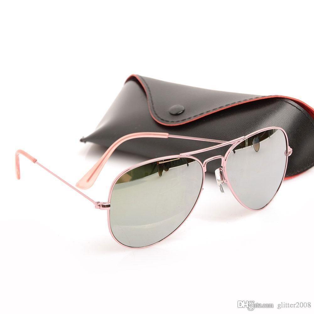 Alto piloto Gafas de sol Diseñador Gafas de metal para hombre Espejo para hombre Gafas de sol Moda para mujer Calidad de sol Marca Gafas UV Protección Marca Sol Gl Ikub