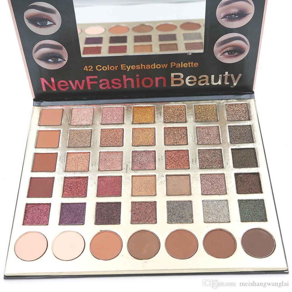 42 Sombra de ojos Palette Glitter Eyeshadow 1 unids / lote 42 colores MatteShimmer Shadow Eyeshadow Makeup 8020 Net 80g
