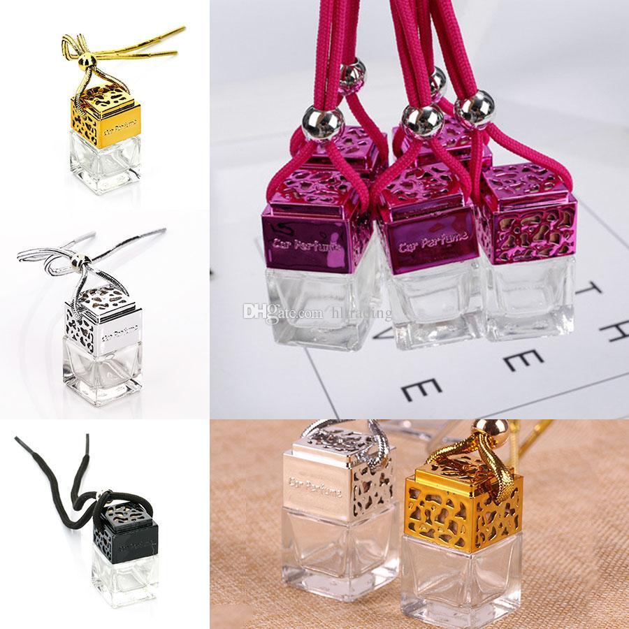 Botella de perfume del coche Botella de perfume del coche Botella de perfume Ambientador de aceites esenciales Difusor Botella vacía Accesorios de dibujos animados C6044