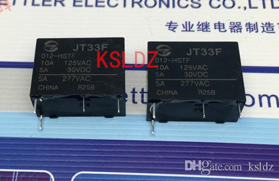 Ücretsiz kargo lot (5pieces / lot)% 100 Orijinal Yeni JT33F-012-HSTF HF33F-012-HSTF 12VDC 12V DC 12V 4PINS 5A277VAC Güç Röle