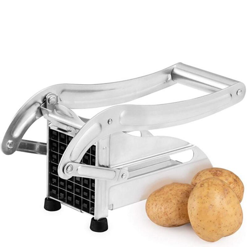 Makine Deluxe Cutter Kesim Manuel Parmak Patates Kesiciler Paslanmaz çelik Ev Manuel Şerit Kesici Patates Kesme Patates Kızartması