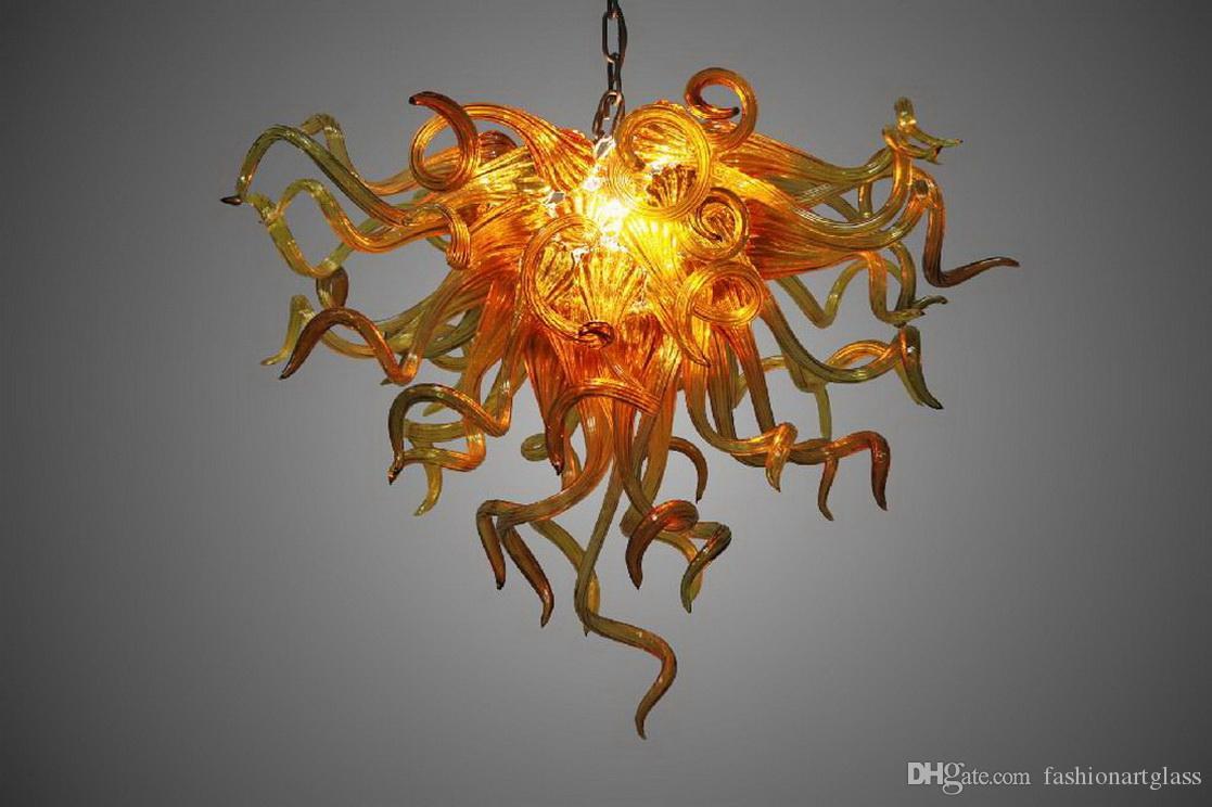 100% Mouth Сгорел боросиликатного Домашнее украшение Современные Murano Glass Art Чихули Стиль Декоративная висит люстра Свет