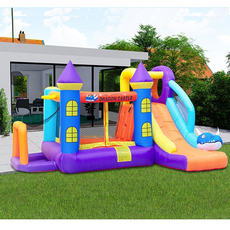 Inflatable Junior Bed Inflatable Junior Sports Field Commercial Inflatable Combo 5 In 1 Combo Bounce House With Slide Funny Sports Field