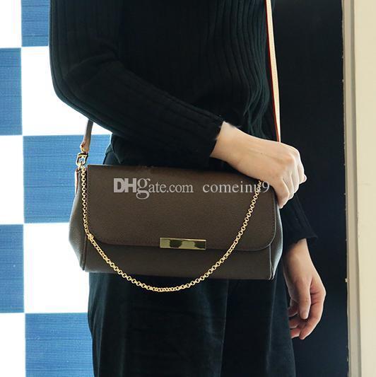 Guter Preis Marke Designer Kette Clutch Bag 40718 Arbeiten Sie echtes Leder-Schulter-Beutel Frauen Flap Handtasche