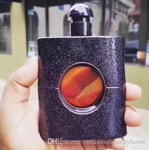 Berühmte Marke Parfüm für Frauen 90ml mit schönen balck Flasche guten Geruch hohen Duft frei einkaufen