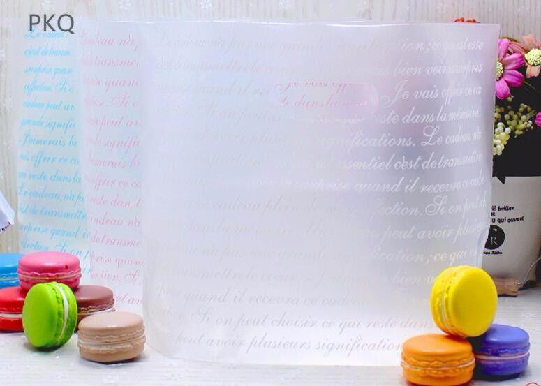 50PCS 2 핸들 지우기 현재 포장 가방 크리스마스 부탁 파티 가방 베이킹 빵 보관 파우치와 플라스틱 선물 가방 크기
