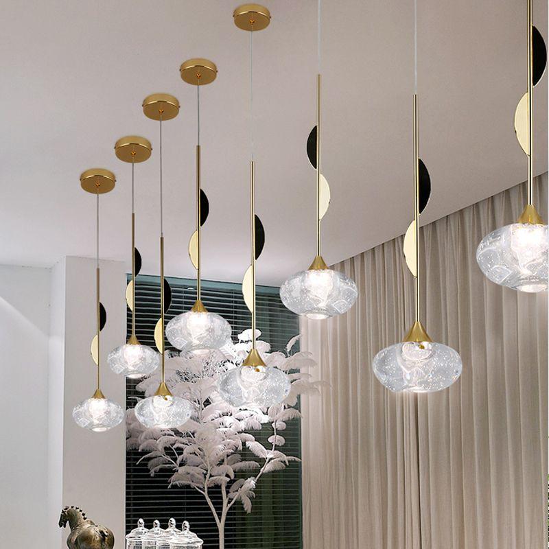 Moderne Glaskugel Pendelleuchten für Esszimmer Innen Zuhause Küche Ausstattung Hängelampe Bar Restaurant Dekor Leuchte Luster 110V-220V