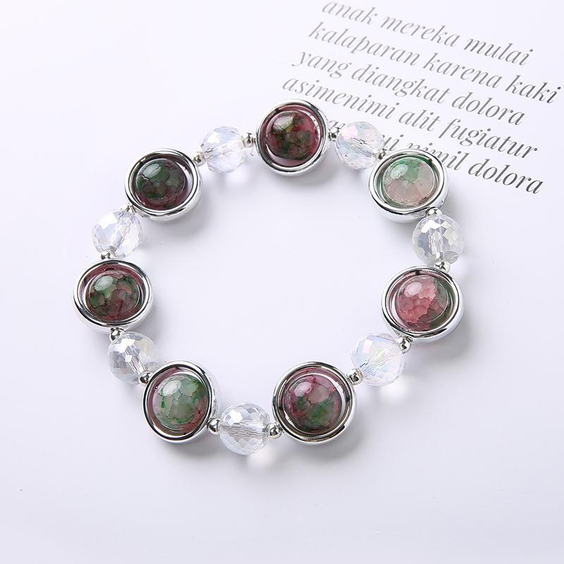 de lujo al por mayor de joyería de diseñador de las mujeres pulseras cuentas de piedras naturales encanto seriales mar Pulsera heló hacia fuera la pulsera NE984