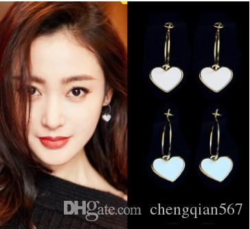 2 pares / lotes borlas preço baixo jóias de cristal de alta qualidade storne 925 brincos da senhora de prata 6.8yu