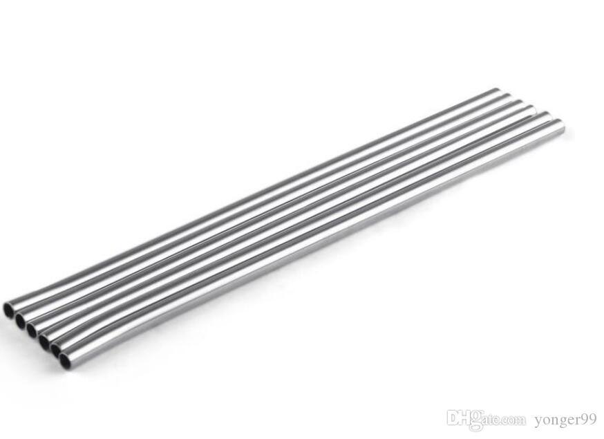 215mm De Aço Inoxidável Palha Reta Prática Canudo Palhinha Fácil de limpar Palhas De Metal Bar família ferramentas de cozinha DHL Frete grátis