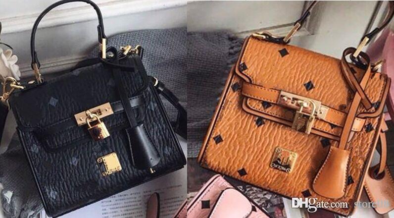 stile caldo alla moda retrò borsa del progettista della borsa della borsa della borsa satchel, croce borsa catena in pelle e tracolla zaino delle donne degli uomini