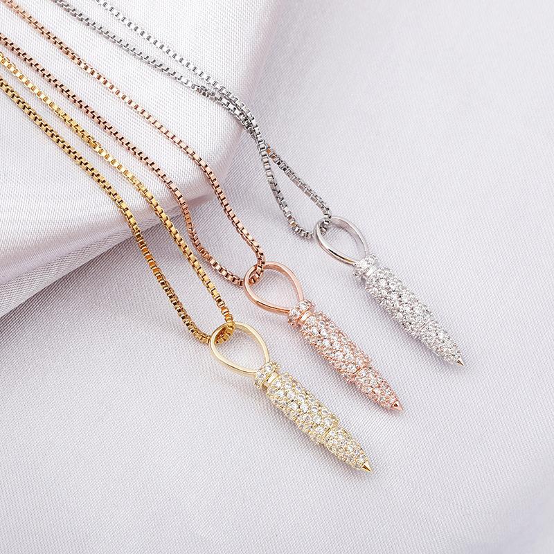 Новые стерлингового серебра 925 Цвет Iced Out циркон камень кулон ожерелья для женщин Хип-хоп моды Rapper ювелирные подарки