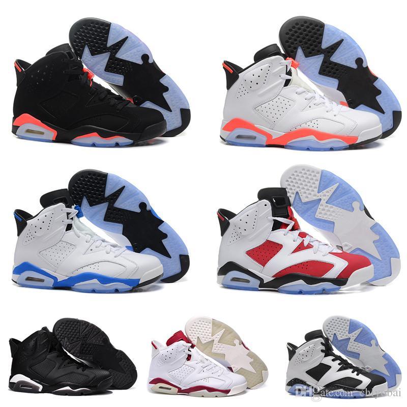 Homens 6 6s tênis de basquete Tinker UNC Blue Black White Cat Infrared Red Carmine Maroon Toro Mens instrutor Sport Shoes Sneaker