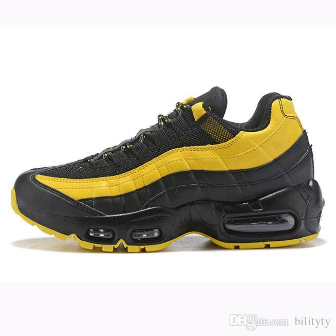 Großhandel Nike Air Max 95 Airmax 95 Shoes Laser Fuchsia Schuhe OG Mens Womens Running Athletic Schuhe Classic Schwarz Rot Weiß Sport Trainer Surface