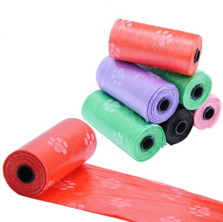 애완 동물 개 폐기물 똥 가방 인쇄 강아지 배설물 가방 6 색 똥 따기 가방 개 용품 OOA5852 p