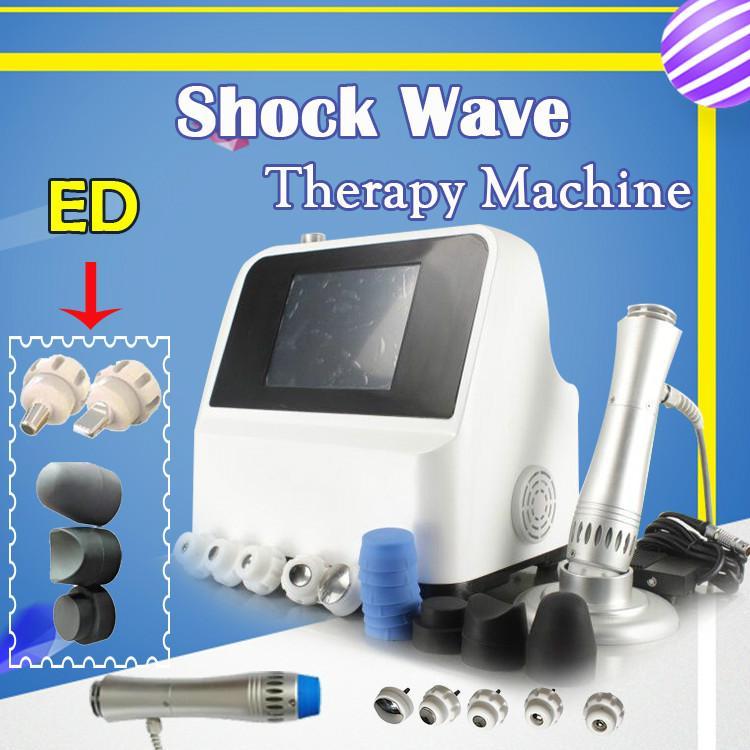 Портативная ударно-волновая терапия для Ed лечения / ударно-волновой машины Низкая интенсивность физической терапии Импульсная звуковая ударно-волновая терапия