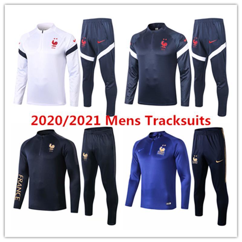 20 21 Frence veste de l'équipe nationale Mbappé Survêtement chemise de football kits Pogba de football maillot de formation Giroud Griezmann manches longues Survêtement