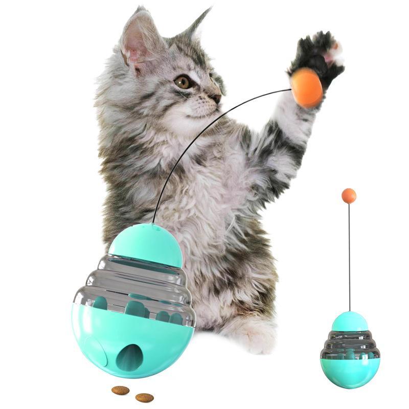 Jogar Hot Novas animais Cat Tumbler Vazamento Food Bola, Animal Training Exercício Toy Anti-depressão Cat Toy engraçado
