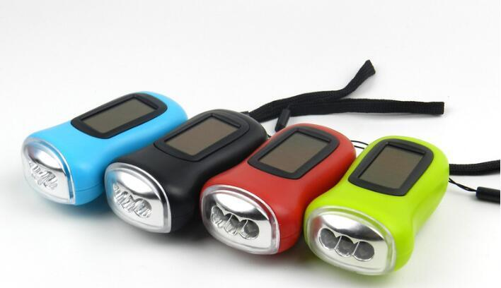 Newest Mini Solar Power 3LED Flashlight Hand Crank Dynamo Camping lights Holiday Lights Christmas Xmas gift 2020