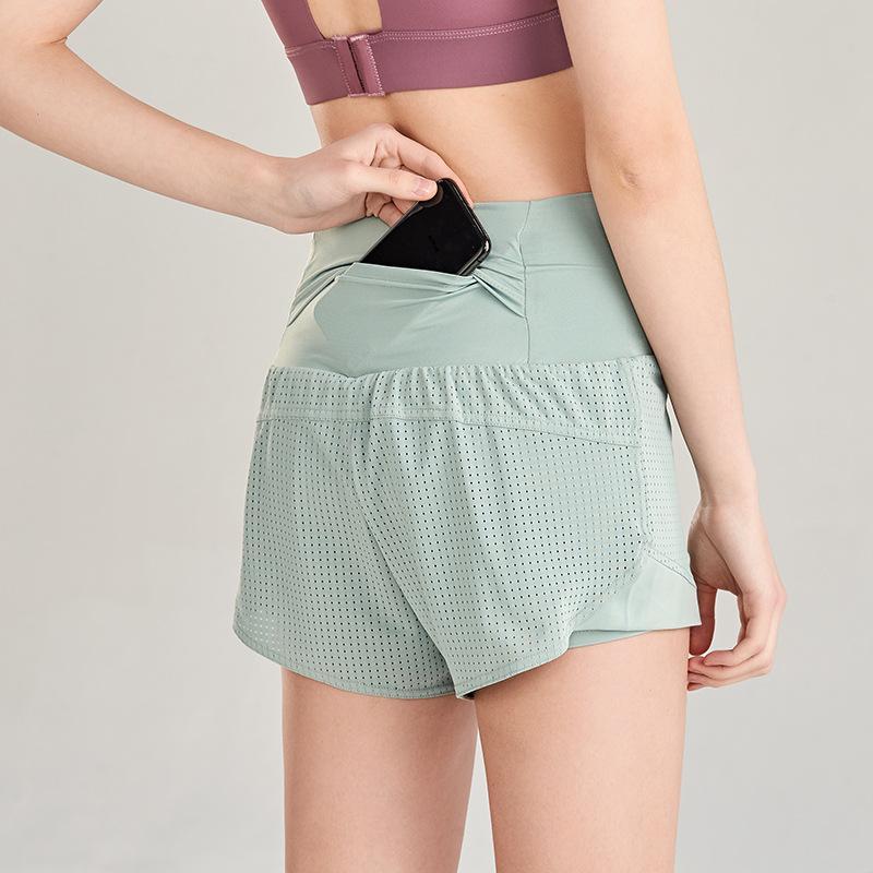 Yogaworld vacaciones de verano de dos piezas pantalón corto mujeres sueltan el secado rápido Correr: Pantalones anti Paseo de cintura alta pantalones de yoga