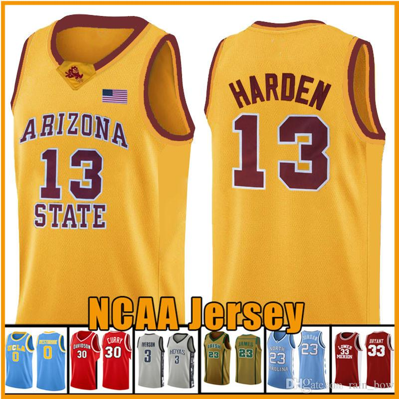 13 NCAA Harden Basketball Jersey Arizona University State Bethel Irish High School jerseys 23 2 Leonard 3 Wade 11 Irving Carry