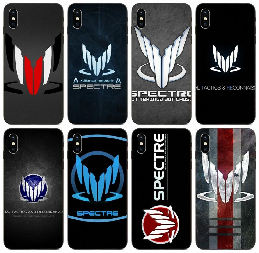 [TongTrade] Mass Effect Spectre Case for iPhone 12 11 Pro X XS Max XR 8 7 6s cassa della galassia J7 J8 Huawei Mate 10 Lite redmi Nota 2 1Pcs 10pz