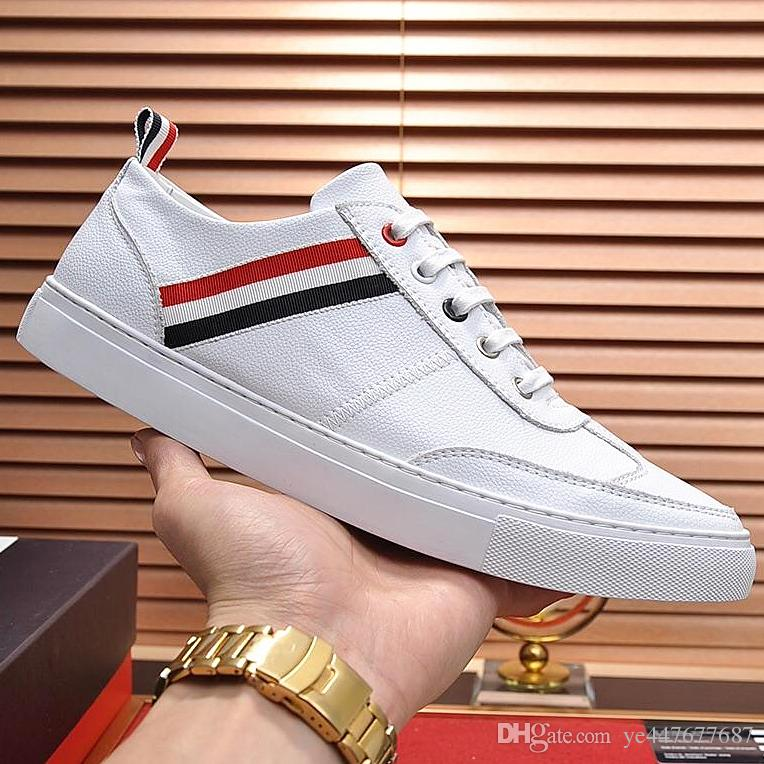 2019 new custom fashion casual mens shoes, design shoes top brand outdoor flatbottomed sneakers, casual lowtop mens shoes with original qw