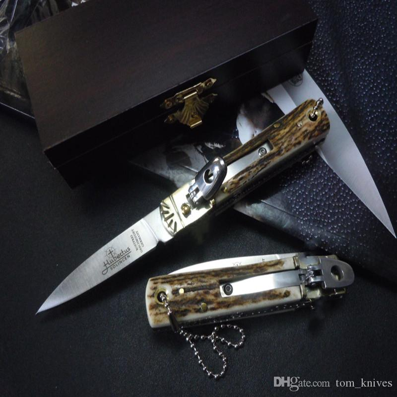 Germany gen Solin classic small knife lever Camping hunting knife mark D2 free shipping 1pcs
