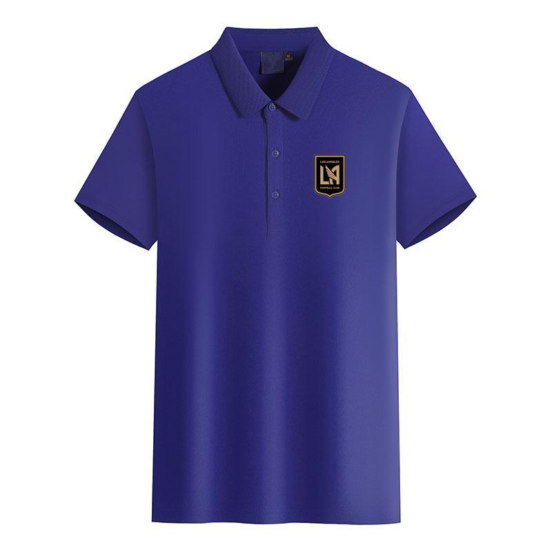 Moda Campo de la camiseta del polo de Los Angeles FC Fútbol Club de fútbol hombres del logotipo de la camisa de manga corta de la camiseta del polo de los hombres de