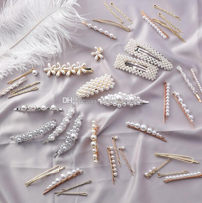 New retro pearl hairpin hairpin card clip girl bangs clip adult headdress