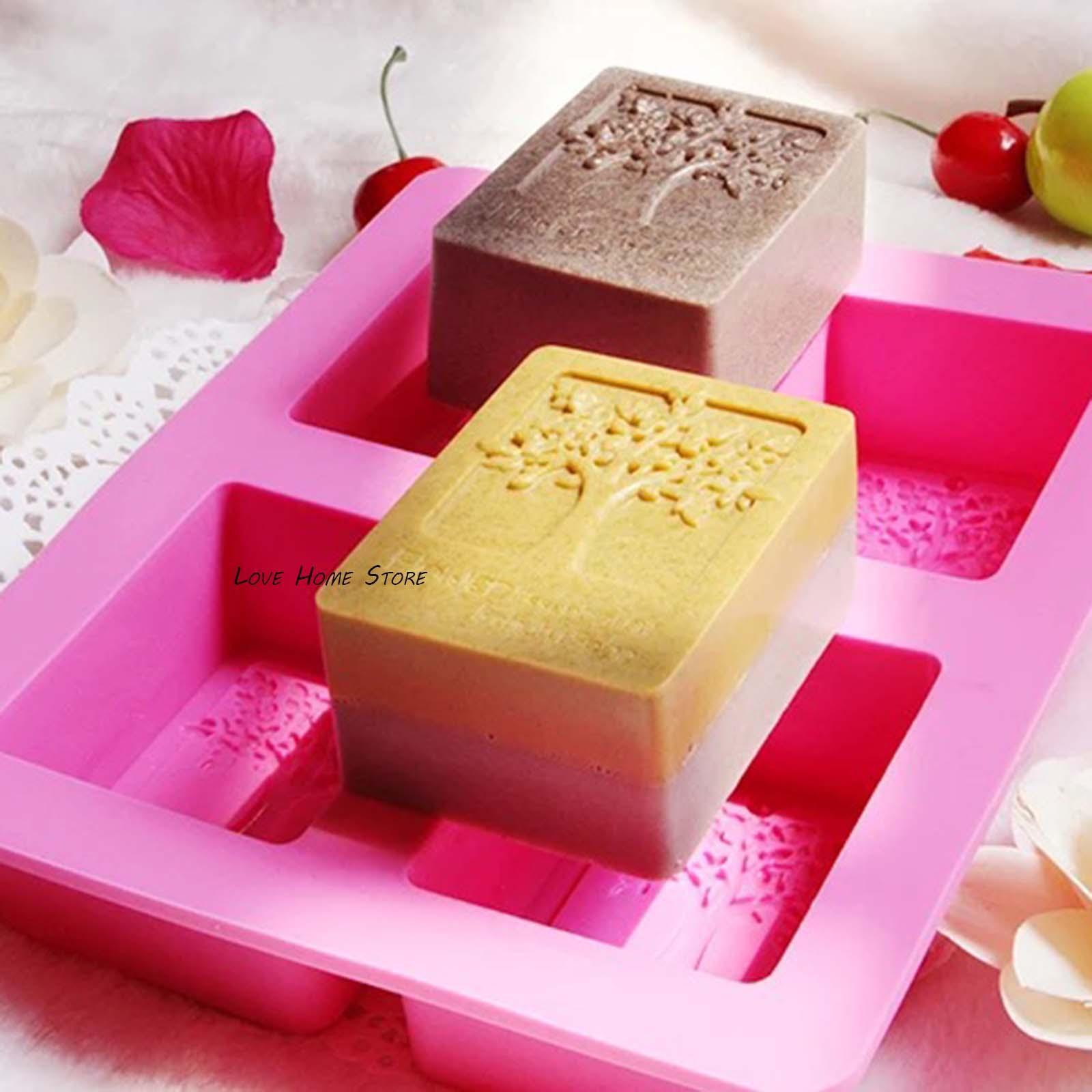 4 in 1 olivo fai da te stampi in silicone stampi biscotto della muffa del silicone per sapone Handmade caramella della candela kit cioccolato cottura stampi
