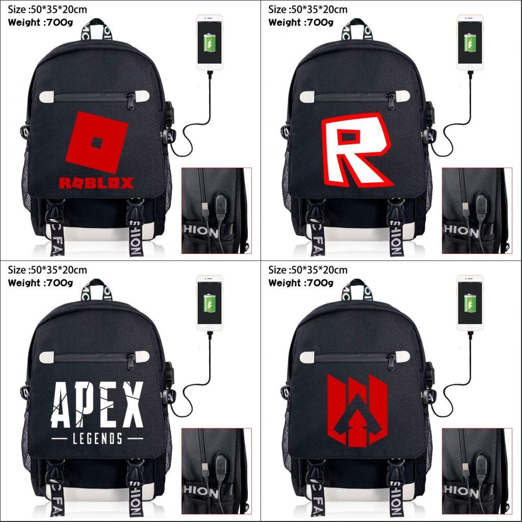 Kids Boys Apex Legends Backpack School Bag Students Bookbag Handbags Travelbag