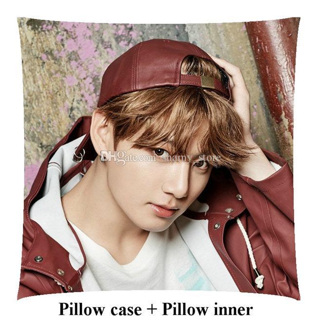 Korea boyfriend JungKook customized decorative Bedding Supplies Square Pillows gift