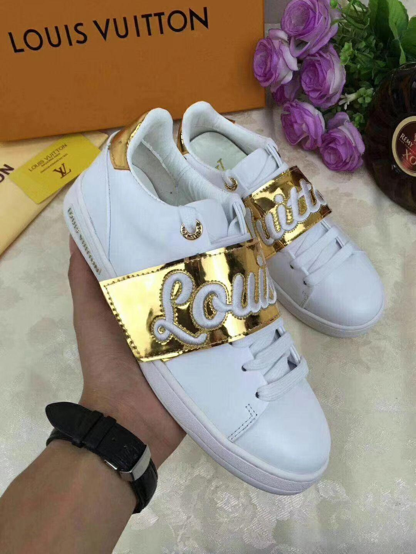 Time Out zapatillas de deporte zapatos de lujo zapatos de las mujeres genuinas diseñador del cuero genuino zapatos casuales de cuero mujer tamaño 35-40 modelo hym03Xo0