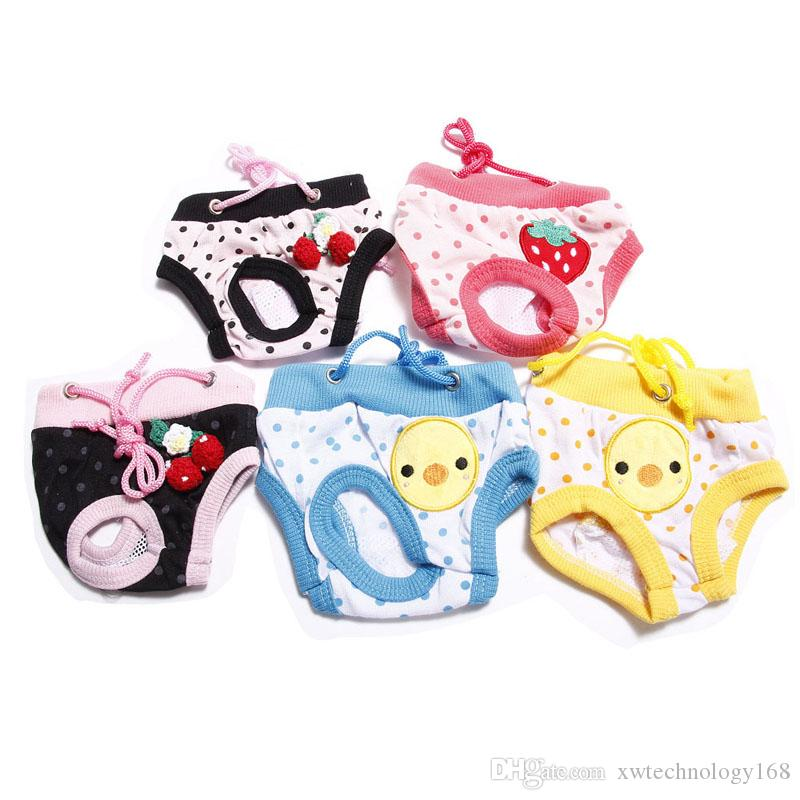 Pets Diapers Dog Nappies Washable Male Female Physiological Pants For Pets Underwear Puppy Diaper Nappies 1PCS