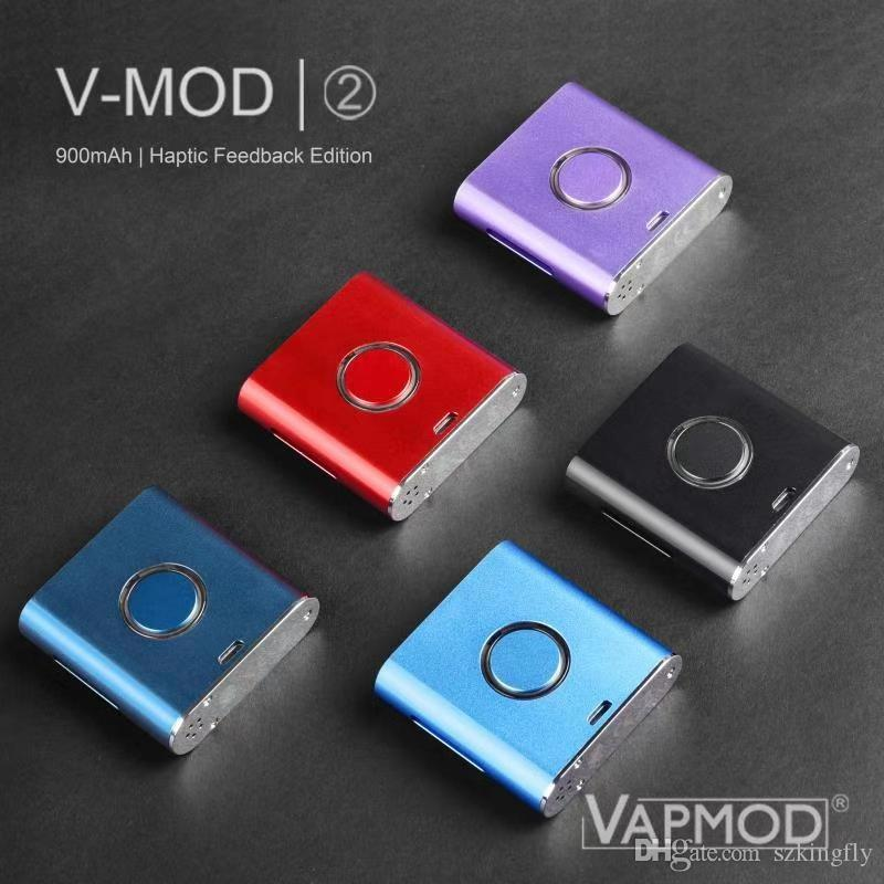 Original Vmod II Starter Kit Vaporizer Akku 900mAh vorheizen VV Batterie 2.6-4.1V Variable Voltage Box Mod Für 510 Dickes Öl Cartridges